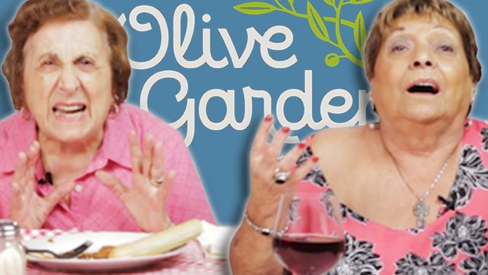 Italian Grandmas Try Olive Garden for the First Time.
