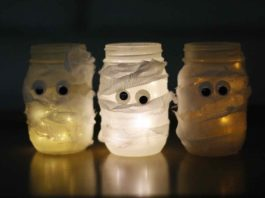 How to Make Mummy Candle Jars